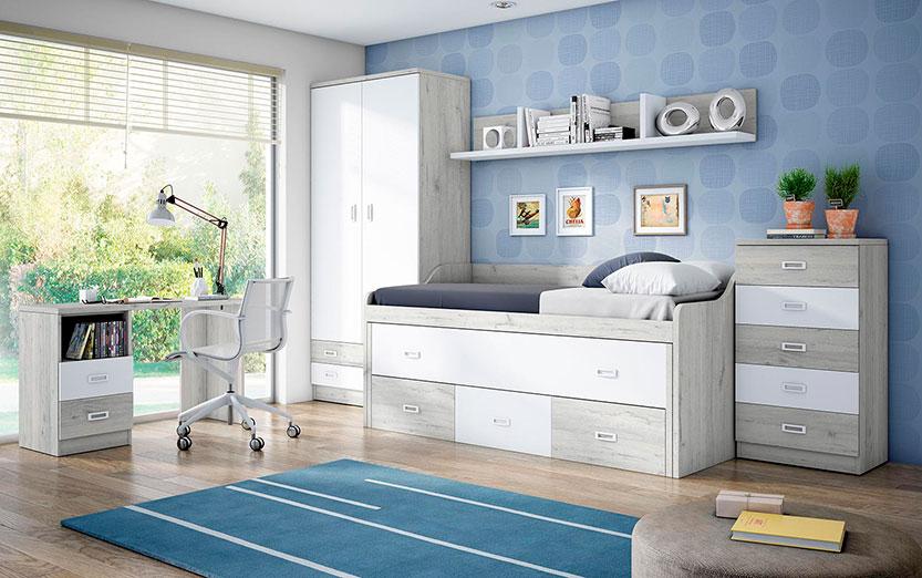 Conseguir una habitaci n juvenil en un espacio peque o es posible con rapimueble rapimueble - Rapimueble dormitorios ...