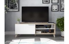 mesas televisión muebles baratos roble  blanco muebles salon