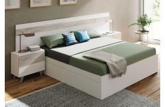 dormitorio de matrimonio en blanco y roble muebles baratos