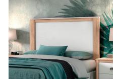 dormitorio de matrimonio cabecero en blanco y roble cambrian baratos
