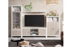 composición blanco poro japandi roble muebles salón baratos