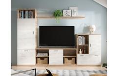 muebles baratos roble nórdico composición apilable