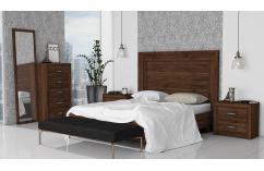 dormitorios matrimonio muebles baratos nogal memphis colonial