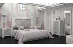 dormitorio matrimonio en blanco y gris moderno muebles baratos