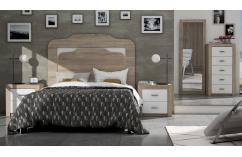 dormitorio de matrimonio roble y blanco poro muebles baratos