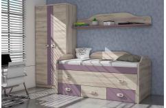 Habitaciones juveniles cama nido roble completo