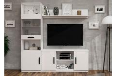 composición blanco poro vitrina mesa tv salones muebles baratos