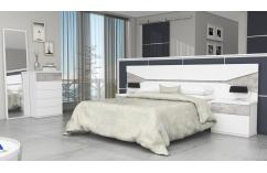 mesitas dormitorio matrimonio blanco poro gris pozzolana