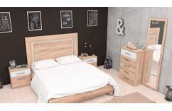 moderno dormitorio matrimonio muebles baratos blanco roble cambrian