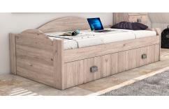 dormitorio juvenil cama nido roble moderno 90x190