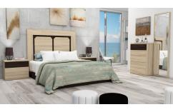 muebles maratos dormitorio de matrimonio en roble claro oscuro