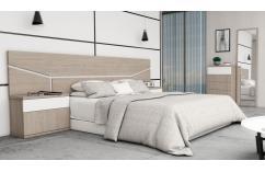 mesitas dormitorio matrimonio blanco poro gris roble