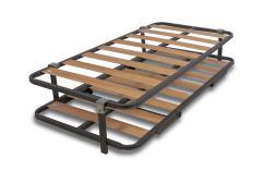 conjunto somier superior inferior lamas de madera patas plegables