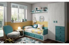 cama nido juvenil muebles baratos gris suave azul