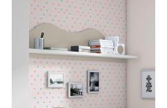 diáfano estante dormitorio juvenil blanco y beige