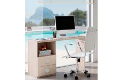 mesa de escritorio en color olmo y beige muebles baratos