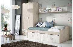 dormitorios juveniles cama nido en roble pine juvenil completo