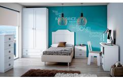 cabecero juvenil blanco 105 cm muebles baratos