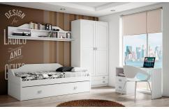 cama nido en blanco habitaciones juveniles muebles baratos