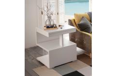 mesa rincón muebles baratos blanco brillo en forma s