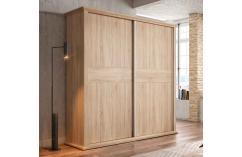 muebles baratos armario roble cambrian moderno con cornisa