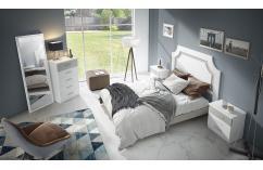 dormitorio matrimonio en blanco poro gris selene muebles baratos