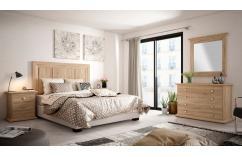 dormitorio de matrimonio en roble cambrian muebles baratos