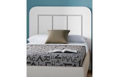 cabecero blanco poro gris moderno dormitorio juvenil