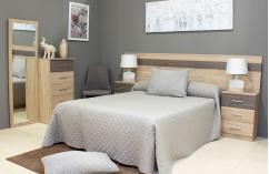 Muebles baratos roble cambrian dormitorio de matrimonio nassar