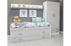 dormitorio juvenil blanco roble moderno sencillo