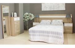 muebles baratos en roble cambrian dormitorio matrimonio blanco
