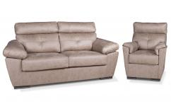 sofa relax beige oscuro 3 plazas 1 plaza sillones