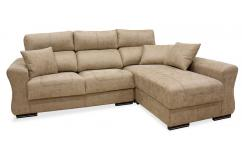 chaiselongue reversible 3 plazas  beige piedra moderno
