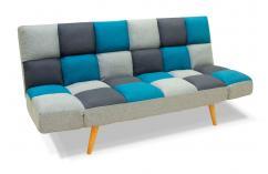 sofa cama juvenil gris claro gris oscuro y azul moderno