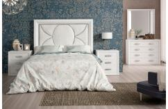 dormitorio de matrimonio blanco poro plata muebles baratos