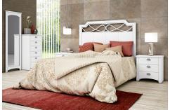 dormitorio de matrimonio en blanco poro cabecero calado baratos