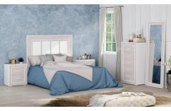 muebles baratos en color blanco gris dormitorio matrimonio