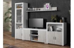 composición moderna en blanco y gris apilable muebles baratos