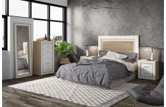 conjunto dormitorios de matrimonio blanco roble cambrian muebles baratos