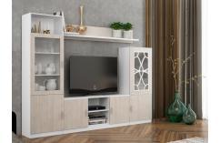moderna composicion mueble salon muebles baratos roble blanco