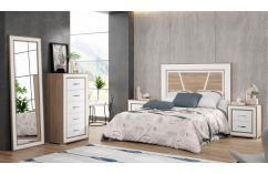dormitorio de matrimonio etilo nordico blanco roble muebles baratos