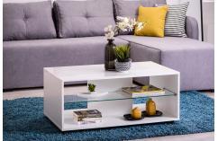 Mesa de centro blanco con ruedas muebles baratos