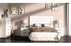 dormitorios matrimonio en color blanco muebles baratos espejo cajon