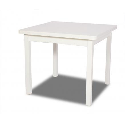 Mesa comedor 90x90 extensible blanca   Rapimueble