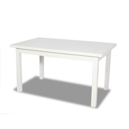 mesa de comedor color blanco patas de madera sillones