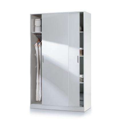 armario juveniles muebles baratos blanco puertas correderas