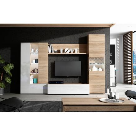composición muebles baratos  en roble canadian blanco mueble