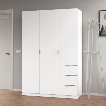 armario elegante en blanco dormitorios juveniles 3 puertas