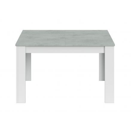 mesa comedor extensible 140x190 cocina salon en blanco y gris