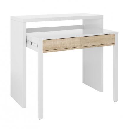 recibidor consola blanco roble canadian moderno muebles baratos